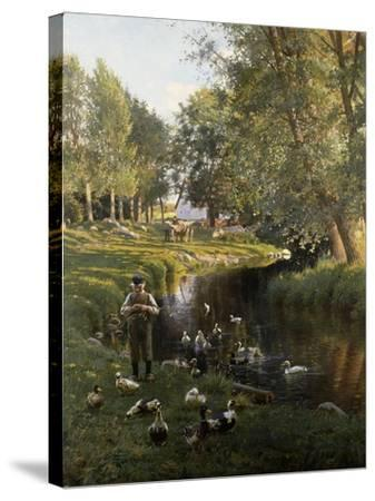 By the River, Apperup-Frants Henningsen-Stretched Canvas Print