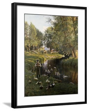 By the River, Apperup-Frants Henningsen-Framed Giclee Print