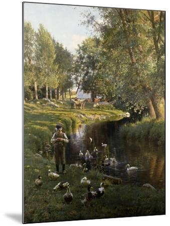By the River, Apperup-Frants Henningsen-Mounted Giclee Print