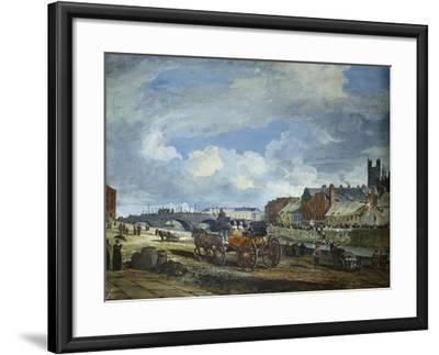 Limerick: Charlotte Quay and George's Quay, Matthew Bridge and the Customs House-William Turner Lond-Framed Giclee Print