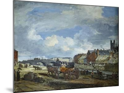 Limerick: Charlotte Quay and George's Quay, Matthew Bridge and the Customs House-William Turner Lond-Mounted Giclee Print