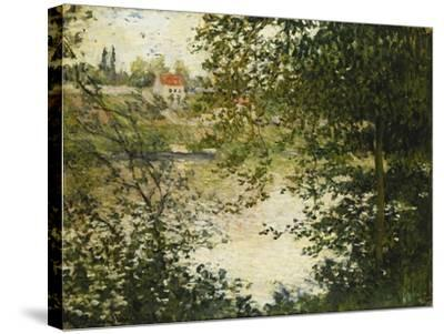 A View Through the Trees of La Grande Jatte Island-Claude Monet-Stretched Canvas Print