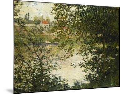 A View Through the Trees of La Grande Jatte Island-Claude Monet-Mounted Giclee Print