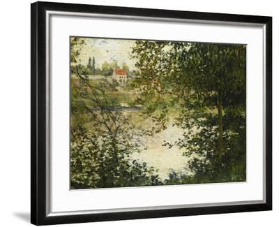 A View Through the Trees of La Grande Jatte Island-Claude Monet-Framed Giclee Print