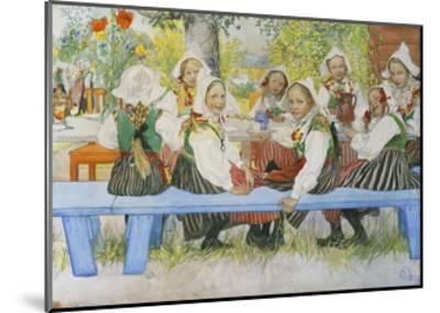 Kersti's Birthday-Carl Larsson-Mounted Giclee Print