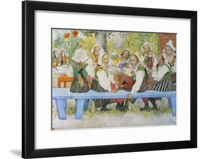 Kersti's Birthday-Carl Larsson-Framed Giclee Print