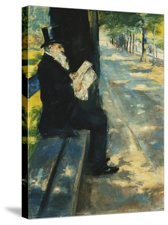Gentleman in the Park-Lesser Ury-Stretched Canvas Print