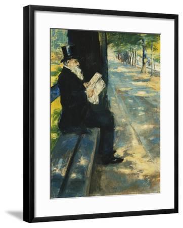 Gentleman in the Park-Lesser Ury-Framed Giclee Print