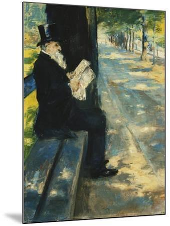 Gentleman in the Park-Lesser Ury-Mounted Giclee Print