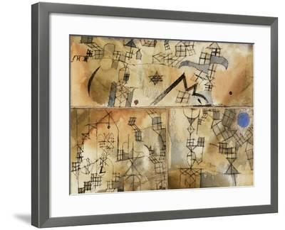 Three-Part Composition-Paul Klee-Framed Giclee Print