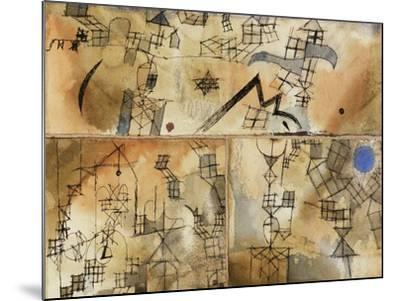 Three-Part Composition-Paul Klee-Mounted Giclee Print