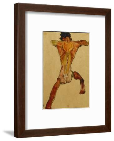 Male Nude seen from Back-Egon Schiele-Framed Premium Giclee Print