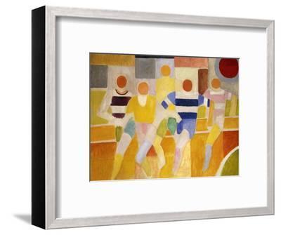 The Runners-Robert Delaunay-Framed Premium Giclee Print