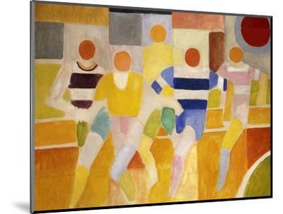 The Runners-Robert Delaunay-Mounted Premium Giclee Print