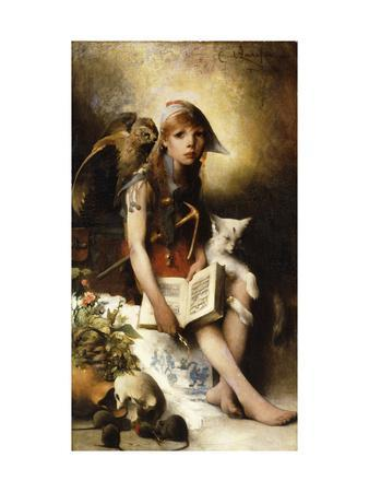 The Witch's Daughter-Carl		 Larsson-Premium Giclee Print