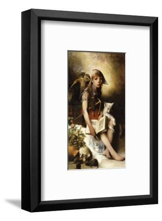 The Witch's Daughter-Carl Larsson-Framed Premium Giclee Print