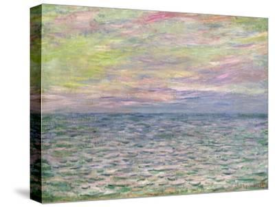 On the High Seas, Sunset at Pourville-Claude Monet-Stretched Canvas Print