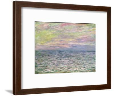 On the High Seas, Sunset at Pourville-Claude Monet-Framed Premium Giclee Print