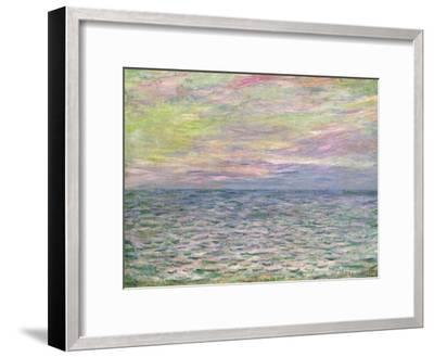 On the High Seas, Sunset at Pourville-Claude Monet-Framed Giclee Print