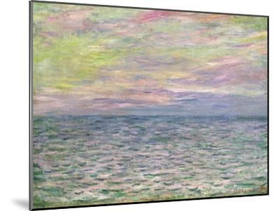 On the High Seas, Sunset at Pourville-Claude Monet-Mounted Giclee Print