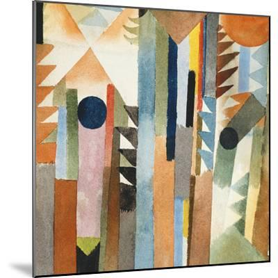 The Forest that Grew from the Seed-Paul Klee-Mounted Premium Giclee Print