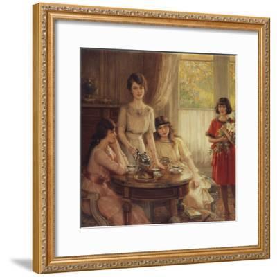 Tea Time-Albert Lynch-Framed Giclee Print