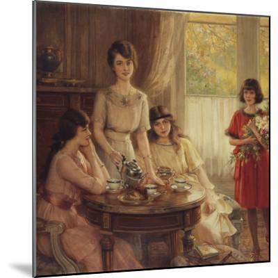 Tea Time-Albert Lynch-Mounted Giclee Print