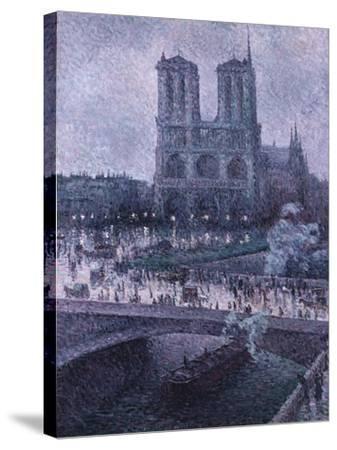 Notre Dame-Maximilien Luce-Stretched Canvas Print