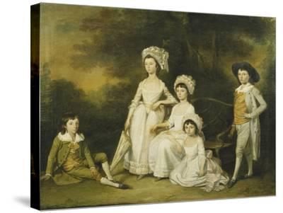 The Mordaunt Family-Lewis Vaslet-Stretched Canvas Print