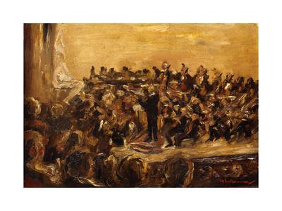 Concert in the Staatsoper, Unter den Linden, Berlin-Max Liebermann-Framed Giclee Print
