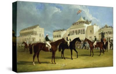 Preparing to Start for the Emperor of Russia's Cup at Ascot, 1845-John Frederick Herring I-Stretched Canvas Print