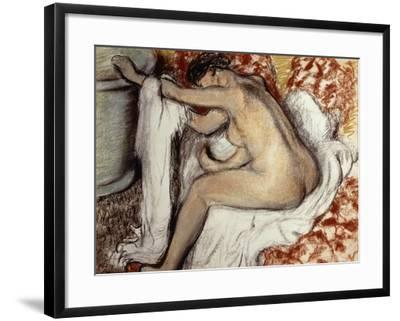 After the Bath, Woman Drying-Edgar Degas-Framed Giclee Print