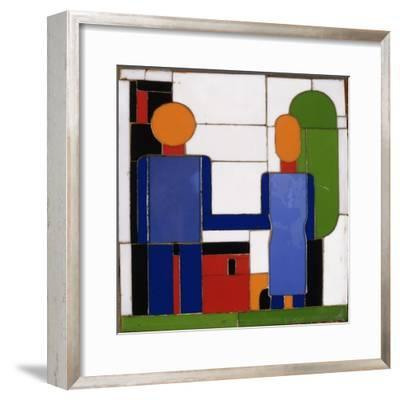 Man and Woman with Intersecting Arms-Franz Wilhelm		 Seiwert-Framed Giclee Print