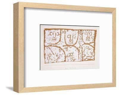Three Figures-Paul Klee-Framed Premium Giclee Print