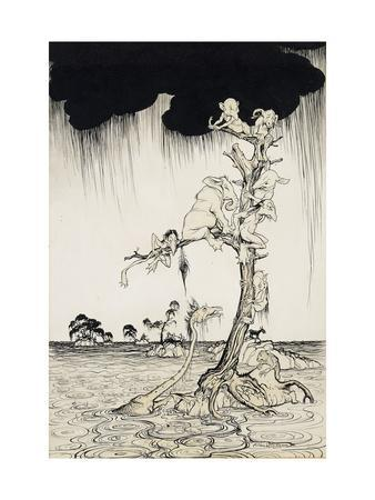 'The Animals You Know Are Not As They Are Now'-Arthur Rackham-Framed Giclee Print