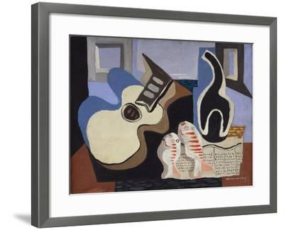 Blue Still Life with Bottle-Louis Marcoussis-Framed Giclee Print