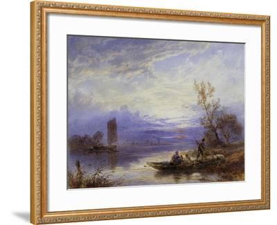 A Ferry at Sunset-Myles Birket Foster-Framed Giclee Print