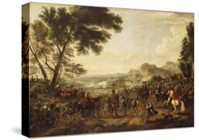 King William III and his Troops preparing for a Battle-Jan Wyck-Stretched Canvas Print