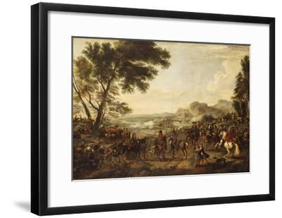 King William III and his Troops preparing for a Battle-Jan Wyck-Framed Giclee Print