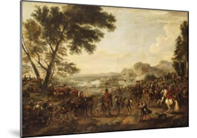 King William III and his Troops preparing for a Battle-Jan Wyck-Mounted Giclee Print