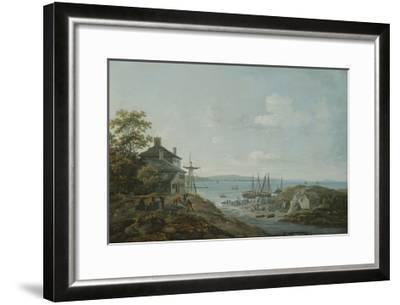 Loading Slate at Bangor Ferry-John Laporte-Framed Giclee Print