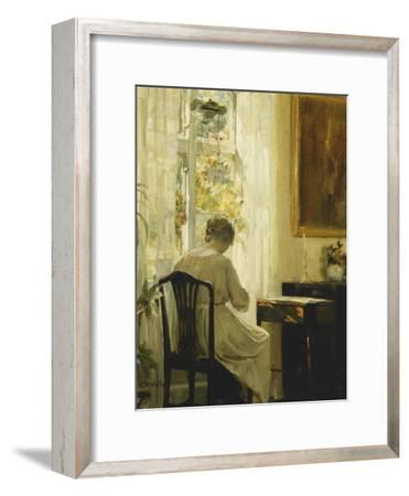 A Woman in an Interior-Carl Holsoe-Framed Giclee Print
