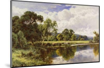 A Wooded River Landscape with Cattle-Henry H.		 Parker-Mounted Giclee Print