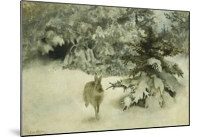 A Hare in the Snow-Bruno Liljefors-Mounted Giclee Print