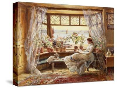 Reading by the Window, Hastings-Charles James Lewis-Stretched Canvas Print