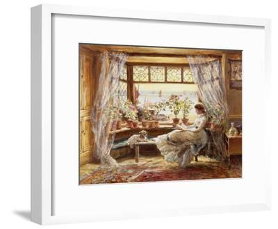 Reading by the Window, Hastings-Charles James Lewis-Framed Giclee Print