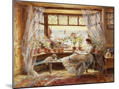 Reading by the Window, Hastings-Charles James Lewis-Mounted Giclee Print