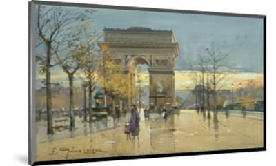 Arc de Triumphe-Eugene Galien-Laloue-Mounted Premium Giclee Print