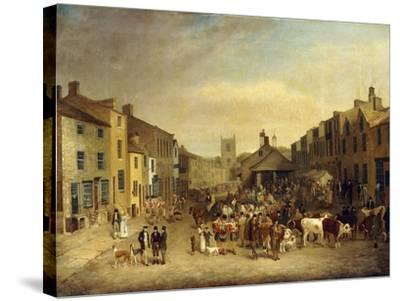 The Skipton Fair of 1830-Thomas Burras of Leeds-Stretched Canvas Print