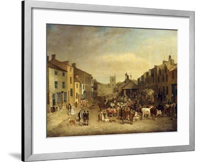 The Skipton Fair of 1830-Thomas Burras of Leeds-Framed Giclee Print